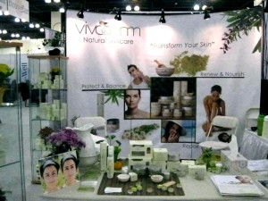 VIVODERM booth at the BeWell Expo